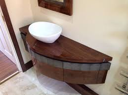 Walnut Bathroom Vanity High Gloss American Black Walnut Bathroom Vanity Unit Bespoke