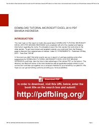 tutorial microsoft excel lengkap pdf download tutorial microsoft excel 2010 pdf bahasa indonesia