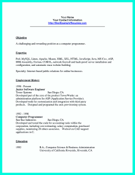 Resume Sample Unix Administrator by Computer Programmer Resume Examples To Impress Employers