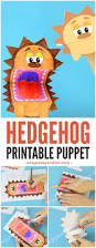 printable hedgehog puppets easy peasy and fun