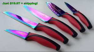 sets of kitchen knives the silislick rainbow knife set kitchen knives cutlery sets