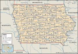 Wisconsin State Map by State And County Maps Of Iowa