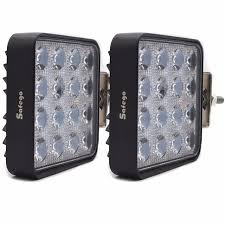 go lights for trucks safego 2pcs led spot light offroad 12v 24v 48w led work lights car
