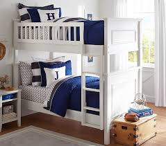 Bunk Bed With Cot Fillmore Twin Over Twin Bunk Bed Pottery Barn Kids