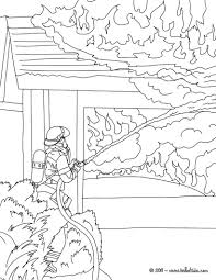 house on fire color page lego fire station coloring page free