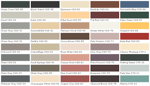 paint color chart displaying 14 images for behr exterior paint