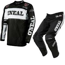 black motocross gear oneal ultra lite le 75 2017 motocross jersey u0026 pants black white