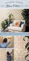 How To Paint And Stencil by Diy Stencil Tutorial How To Paint A Linen Fabric Texture Wall