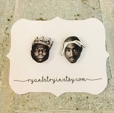 tupac earrings biggie and tupac earrings stud earrings earrings