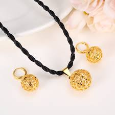 new fashion necklace images New fashion cute jewelry gold round ball jewelry sets for women jpg