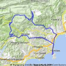 map of antibes cycling routes and bike maps in and around antibes bikemap