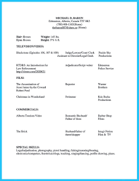 Acting Resume Template Word Brilliant Acting Resume Template To Get Inspired
