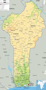 Physical Map Africa by Benin Physical Map U2022 Mappery