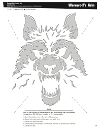 Halloween Stencils Printable by Werewolf U0027s Grin Free Pattern By Pumpkin Masters Want To Print