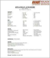 Beginner Acting Resume Template Sample Acting Cover Letter Actor Cover Letter Sample Are Really