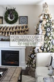 how to decorate a tree the easy way