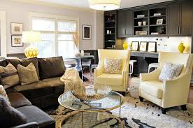 Butter Yellow Sofa Yellow And Brown Living Room Contemporary Living Room Lucy
