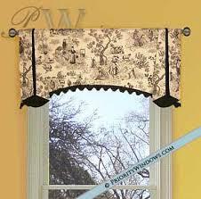 Black Curtains With Valance Black Farm Toile Valance Pwv Custom Valances Pinterest