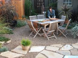 Gravel Patio Construction Pea Gravel Driveway Landscape Contemporary With White Outdoor