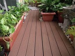 outdoor balcony garden with waterproof flooring types of outdoor