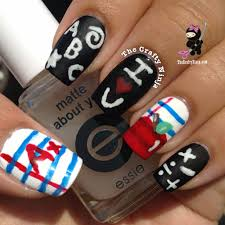 back to chalkboard nail art thecraftyninja com nail art