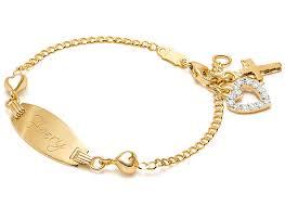 engravable id bracelet follow your heart baby children s engraved id bracelet 14k gold