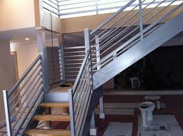 iron stair rails and banisters beautifying house with iron stair