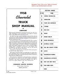 amazon com 1958 chevy pickup truck shop service repair manual