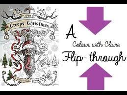 creepy christmas colouring book mister sam shearon