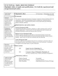 Skills Template For Resume List Of Management Skills For Resume Template