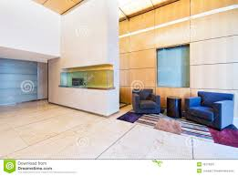 modern lobby with high ceiling royalty free stock photography