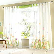 sheer curtains with yellow flowers delightful curtain designs for