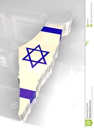 Map Of Isreal 3d Flag Map Of Israel Royalty Free Stock Photography Image 8919627