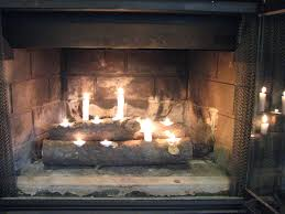 fireplace candle logs design best 25 candle fireplace ideas on