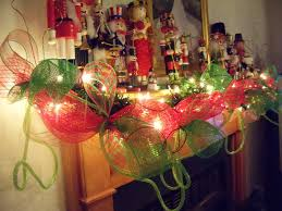 mesh ribbon table decorations dining rooms wonderful festive room decorations for cournty