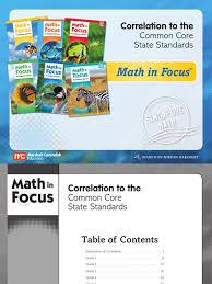 math in focus 2013 correlation document common core state