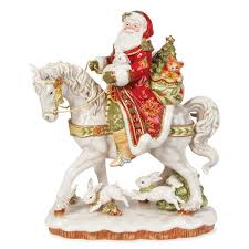 damask santa on figurine fitz and floyd