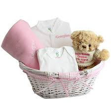 Baby Basket Gifts Personalised Baby Gift Basket By Hope And Willow