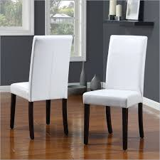 beautiful white leather dining chair in interior design for home