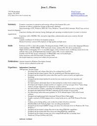 Best Resume For Experienced Format by Objective For Freshers Resume Resume For Software Engineer