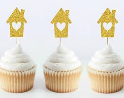 12 housewarming cupcake toppers new home housewarming