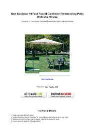 Coolaroo Umbrella Review by New Coolaroo 10 Foot Round Cantilever Freestanding Patio Umbrella Smo U2026
