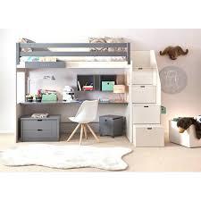 lit surélevé avec bureau lit mezzanine avec bureau enfant lit superposac bureau ikea