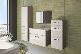 badezimmer set günstig badmöbel badezimmer evo 5tlg set in hochglanz weiss sonoma