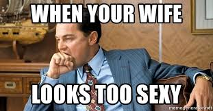 Sexy Wife Meme - when your wife looks too sexy leonardo dicaprio biting fist