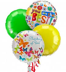 luck balloon delivery balloon bouquet 4 mylar balloons a mixed balloon bouquet