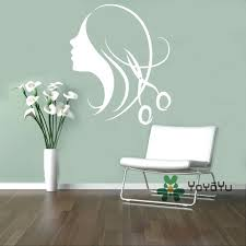 wall ideas zoom hair salon wall art stickers beauty salon wall