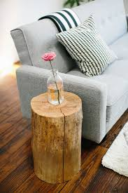 tree trunk bedside table sugar cloth house tour stump table tree stump side table and stools