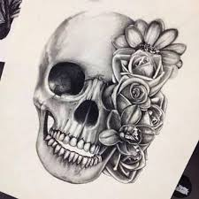 33 best realistic skull tattoo designs drawings images on