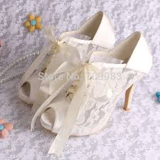 wedding shoes ankle or ivory lace bridal wedding shoes women ankle boots peep toes